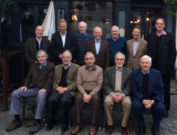 (L to r) Standing: John New, David Earl, Ron Wood, Chris Singleton, Paul McCombie, Brian Caswell, Gordon Aitken Seated: Neill Stewart, John Rawlings, Peter Kelly, Andrew Jukes, Tim Flood