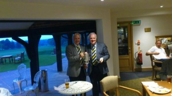 Brian O'Luanaigh receiving trophy Spring 2012
