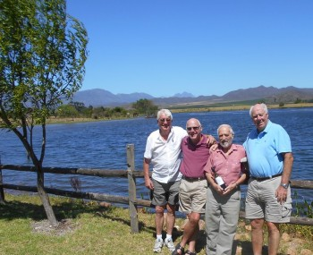 L to r:- John Whybrow, Jerry Hartley, Keith Poole and Alan Cowing