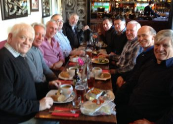 From left to right Gordon Scott, Leon Sacks, Sean O'Farrell, Jim Mon, Peter Pringle, Adrian Figgess, Howard Morton, Ed Andrews, Peter Gale and Dale Mockford.
