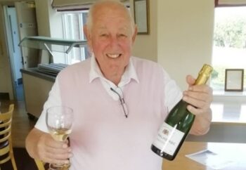 Golf News - Mike Wilkinson celebrating his hole-in-one 1