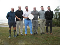 Solihull Salver 2018 - Whitgift's winning team (l to r), Nic Gates, Alex Atkinson, Matt Webster, Mark Coppell, Joe Carmody-Firth, Neill Williams