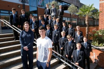 Old Whitgiftian and Olympian Joe Choong visits Whitgift School Photography by Danny Fitzpatrick