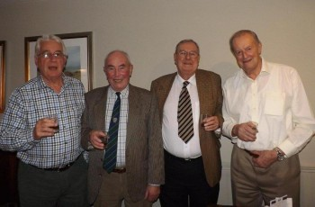 L to r:  John Whybrow 1944-53; Ted Ault 1944-51; Malcolm Tilley 1945-51; Brian Bunclark 1945-51