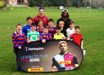 Marland Yarde and Henry Cheeseman at Quins Camp