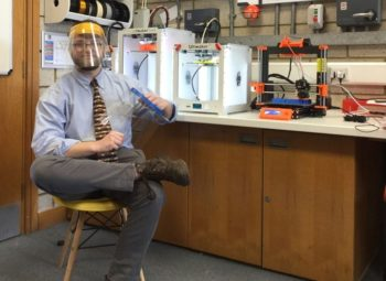 NTFS - Mr Wendes making visors