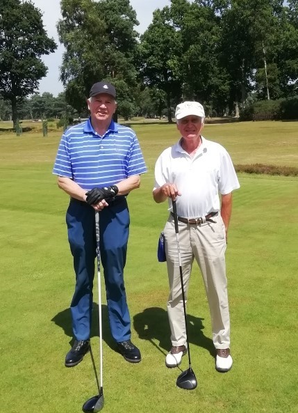Dudley Thompson and Bob Justice at West Sussex GC