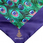 Peacock Scarf Corner Detail (Large)