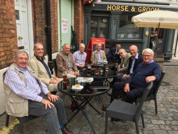 (L to R) Roger Lambert, Peter Stevens, Martin Osborne, John Trembath, Michael Wilson, David Mash, David Purdell-Lewis and Tim Forbes