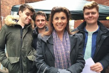 The group with host, Kirstie Allsopp – Credit: Croydon Advertiser