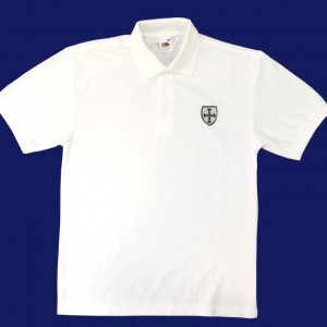 WA White Polo Shirt Alt BG (Medium)