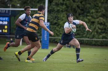 Whitgift School 1st XV versus Wellington School rugby match on Big Side, Croydon. 24th September 2016. Photography by Fergus Burnett.