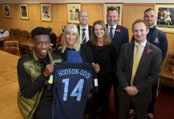 Callum Hudson-Odoi - visit to Whitgift School - 09/11/17