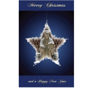 Xmas Card Blue Star Front